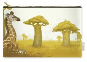 Giraffe And Savanna Carry-all Pouch