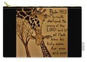 Giraffe Bible Verse Carry-all Pouch