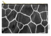 Giraffe Black And White Carry-all Pouch