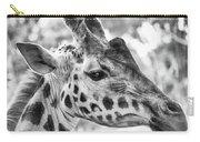 Giraffe Bw Carry-all Pouch