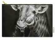 Giraffe Eating Carry-all Pouch by Johan Swanepoel