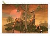 Giraffe Family By John Junek Carry-all Pouch