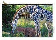 Giraffe Feasting Carry-all Pouch