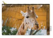 Giraffe In The Zoo. Carry-all Pouch