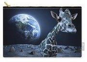 Giraffe On Moon Carry-all Pouch