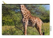 Giraffe On Savanna. Safari In Serengeti Carry-all Pouch