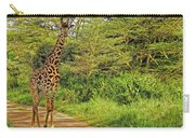 Giraffe On The Trail Carry-all Pouch