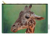 Giraffe Square Painted Carry-all Pouch
