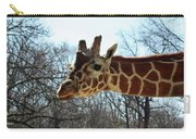 Giraffe Stretching For A View Carry-all Pouch