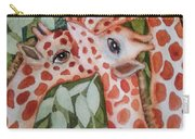 Giraffe Trio By Christine Lites Carry-all Pouch by Allen Sheffield
