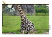 Giraffe With African Baobob Tree Carry-all Pouch