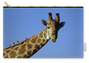 Giraffe With Oxpeckers Carry-all Pouch