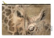 Giraffes, Big And Small Carry-all Pouch