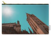 La Giralda Bell Tower Brilliantly Lit In Teal And Orange Carry-all Pouch