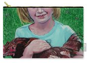 Girl And Chicken Carry-all Pouch