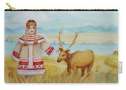 Girl And Deer Carry-all Pouch