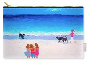 Girl Friends - Beach Painting Carry-all Pouch