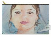 Girl In A Hat Portrait Carry-all Pouch