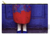 Girl In Colorful Flower Dress Carry-all Pouch