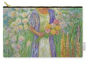 Girl In Monet's Garden At Giverny Carry-all Pouch