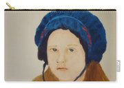 Girl In The Blue Bonnet Carry-all Pouch