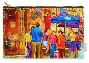 Girl In The Cafe Carry-all Pouch by Carole Spandau
