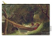 Girl In The Hammock Carry-all Pouch by Winslow Homer