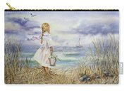 Girl And Ocean Watercolor Carry-all Pouch