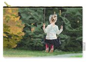 Girl Playing Outside Carry-all Pouch