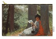 Girl Reading Under An Oak Tree Carry-all Pouch
