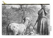 Girl Tending Sheep Carry-all Pouch