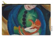 Girl With A Cat II Carry-all Pouch