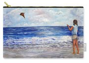 Girl With A Kite Carry-all Pouch