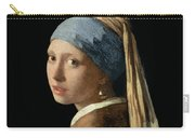 Girl With A Pearl Earring Carry-all Pouch by Jan Vermeer