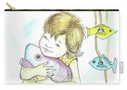 Girl With A Toy-fish Carry-all Pouch