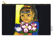 Girl With African Violet Carry-all Pouch