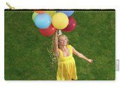 Girl With Air Balloons Carry-all Pouch