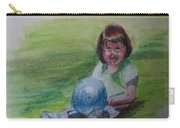 Girl With Ball Carry-all Pouch