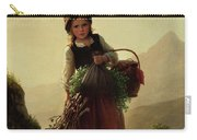 Girl With Basket Carry-all Pouch