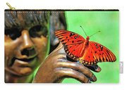 Girl With Butterfly Carry-all Pouch