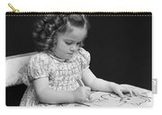 Girl With Coloring Book, C.1960-40s Carry-all Pouch