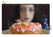 Girl With Doughnut Carry-all Pouch