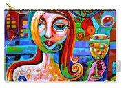 Girl With Glass Of Chardonnay Carry-all Pouch
