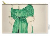 Girl With Green Dress Carry-all Pouch