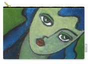Girl With Green Eye Carry-all Pouch