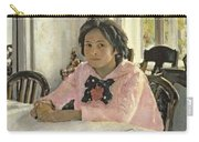 Girl With Peaches Carry-all Pouch by Valentin Aleksandrovich Serov
