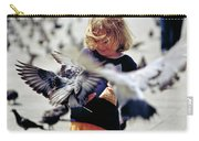 Girl With Pigeons Carry-all Pouch