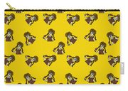 Girl With Popsicle Yellow Carry-all Pouch