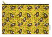Girl With Popsicle Yellow Floral Carry-all Pouch