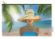 Girl With Summer Hat Carry-all Pouch